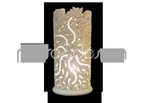lampada cilindrica in pietra leccese